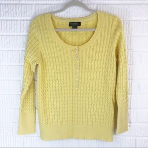 Eddie Bauer yellow sweater